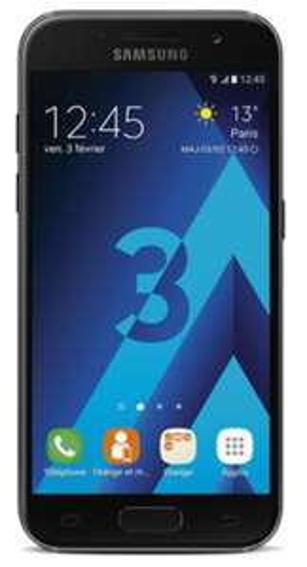"""Smartphone 4.7"""" Samsung Galaxy A3 2017 - 2 Go de Ram, 16 Go (via ODR de 30€)"""