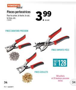 Set Pince perforatrice Powerfix + 100 œillets et 25 boutons pression