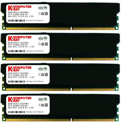 Kit 16 Go de RAM  1600Mhz (4 x 4 Go)  Komputerbay DDR3 DIMM (240 broches) PC3 12800