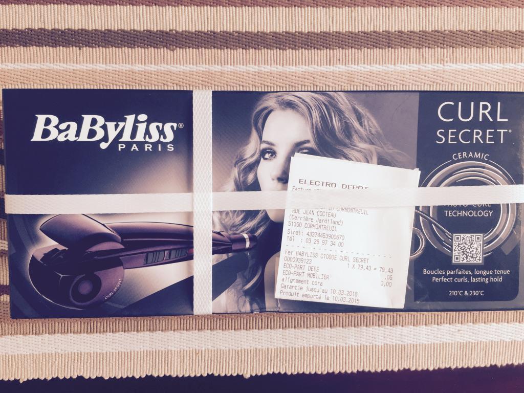 Fer à Boucler Curl Secret Babyliss C1000E