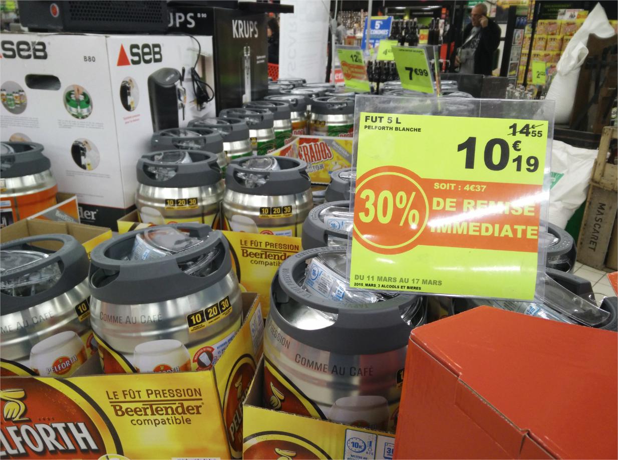 -30% sur les fûts de biere BeerTender - Ex: Fut Pelforth 5L