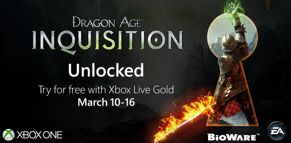 [Abonnés Gold] Dragon Age Inquisition gratuit du 10 au 16 Mars