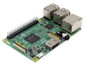 Mini-PC Raspberry Pi 3 B - Quad-Core ARM Cortex-A53, RAM 1 Go, WiFi/Bluetooth/Ethernet, 4 USB, microSD
