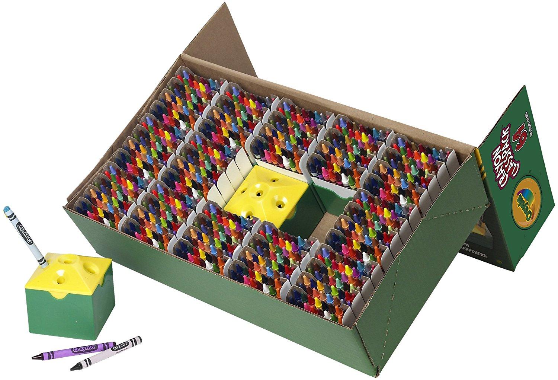 Pack de 832 crayons de couleur à la cire Crayola Classpack (Taille-crayon inclus)