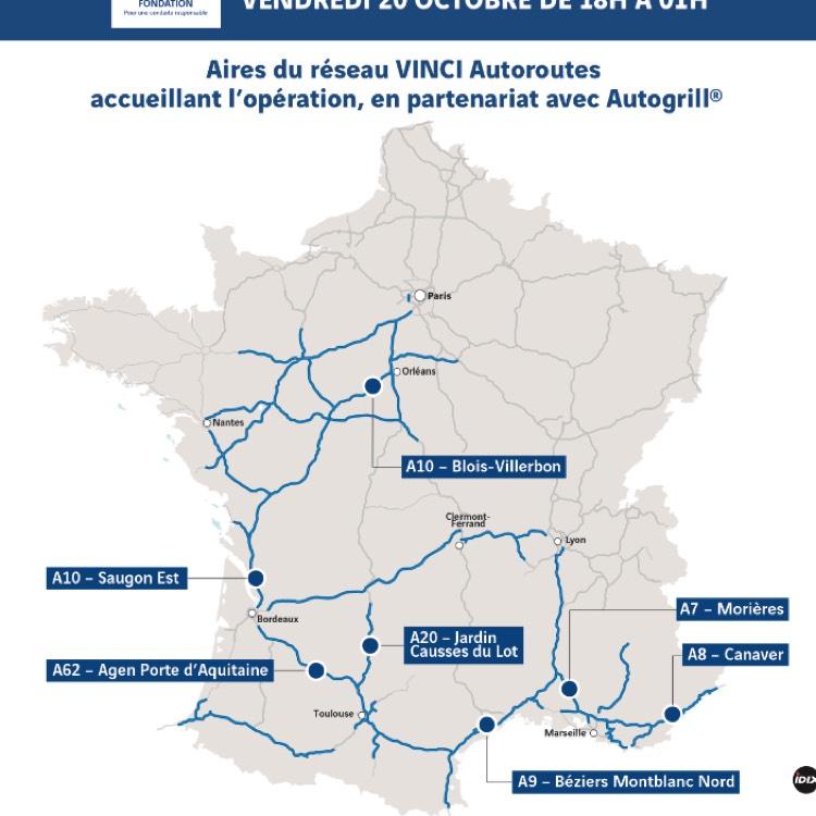 [De 18h à 1h] Café Offert sur une sélection d'aires Vinci Autoroute