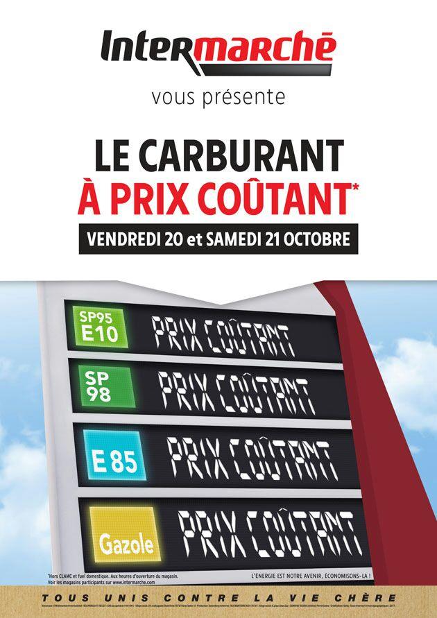 Carburant à prix coûtant dans toute la France - Ex : Litre de Gazole à Arques (62)
