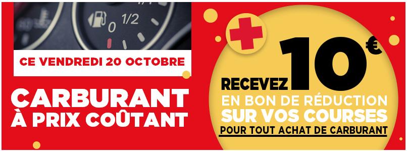 Carburant à prix coûtant + Bon d'achat de 10€ - Ex : Gasoil à 1,175€ à Mandelieu la Napoule (06)