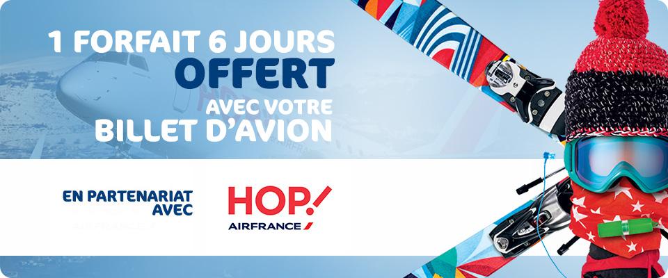 Forfait ski 6 jours offert dans les stations du réseau N'py pour toute réservation d'un billet d'avion Hop! Air France Lille-Pau et d'un transfert en navette