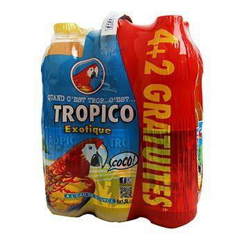 Lot de 6 bouteilles  Tropico exotic 1.5L (via 2.83€ sur la carte)