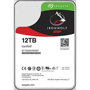 """Disque dur interne 3.5"""" Seagate IronWolf  - 12 To"""