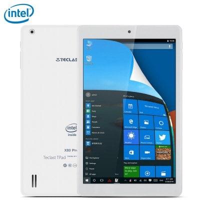 "Tablette 8"" Teclast X80 Pro - WUXGA, X5-Z8350, RAM 2 Go, ROM 32 Go (Android 5.1 + Windows 10)"
