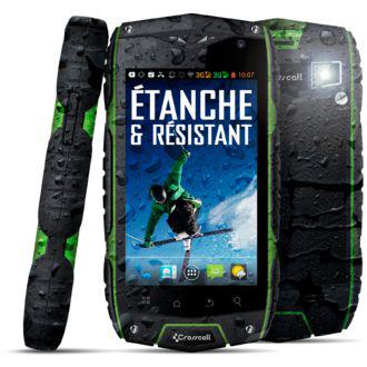Smartphone étanche résistant aux chocs Crosscall Odyssey gris (avec ODR 50€)