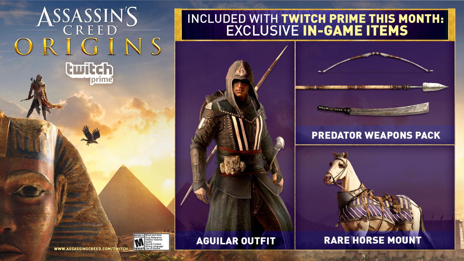 [Amazon/Twitch Prime] Pack bonus Assassin's Creed Origins offert (Dématérialisé)