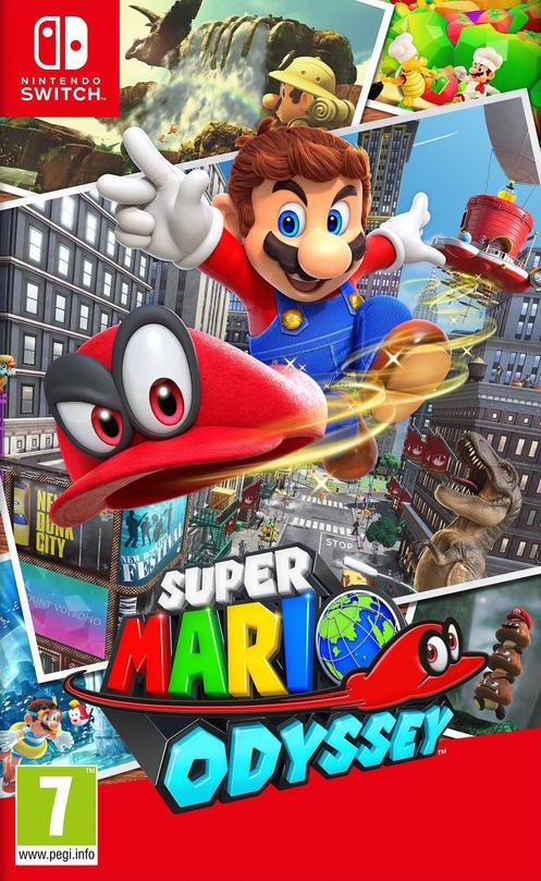 Super Mario Odyssey sur Switch (via reprise d'un jeu parmi la sélection)