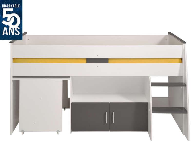 Lit combiné Spike - 90x200cm, blanc