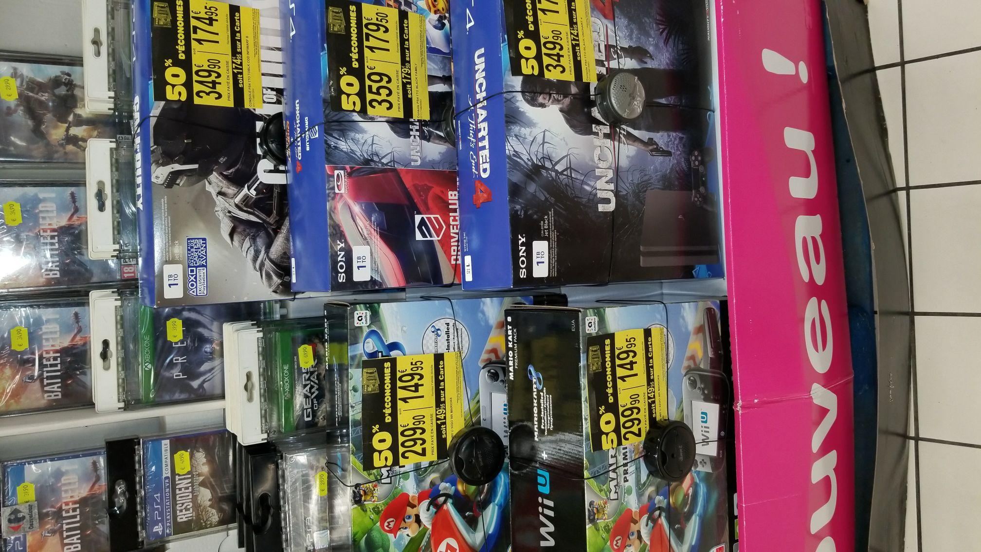 -50% sur une sélection de consoles (via fidélité) - Ex : Nintendo Wii U 32Go + Mario Kart 8 (Niort - 79)