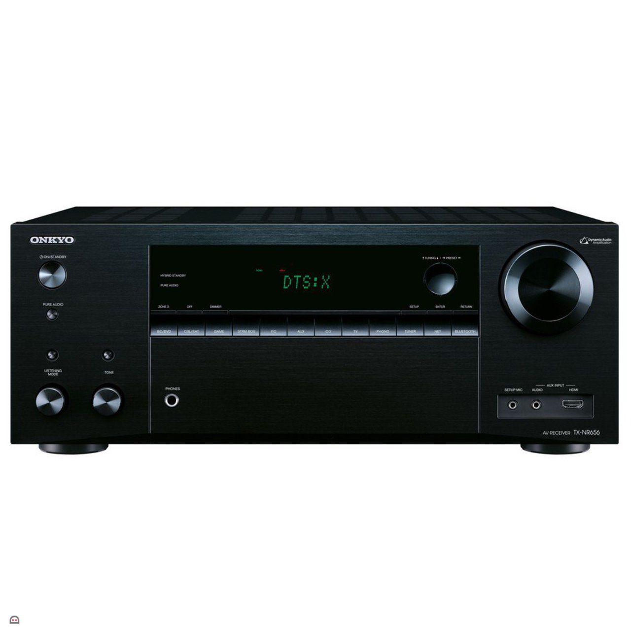 Ampli Home Cinéma 7.2 Onkyo TX-NR656 Noir - Dolby Atmos 5.2.2, HDMI 2.0a, HDCP 2.2, DTSX