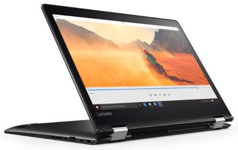"PC Portable 14"" Lenovo Yoga 510-14IKB - Ecran Full HD tactile à rotation 360°, RAM 8Go, i7-7500, SSD 256Go, Windows 10"
