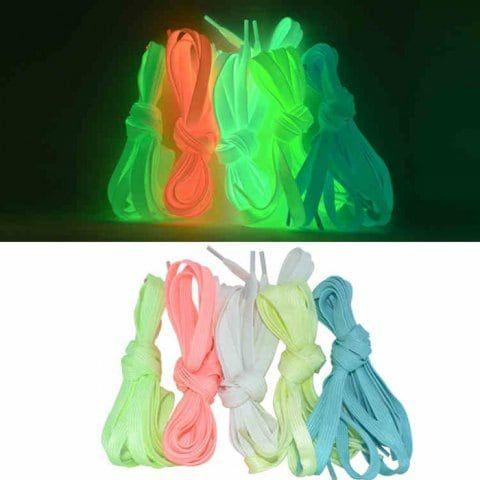 Lacets Phosphorescents plusieurs coloris 80cm