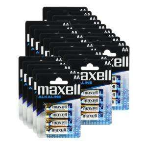 Lot de 25 pack de 4 piles alcalines (100 piles) LR6 AA Maxell