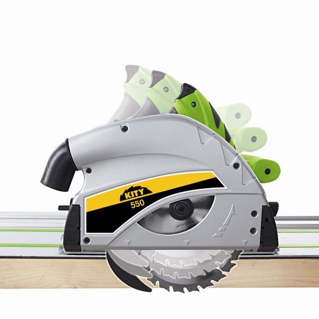 Scie plongeante Kity 550 + 2 rails 700mm Kity