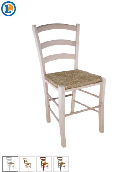 Chaise paysanne en hêtre - Assise en paille (plusieurs coloris)
