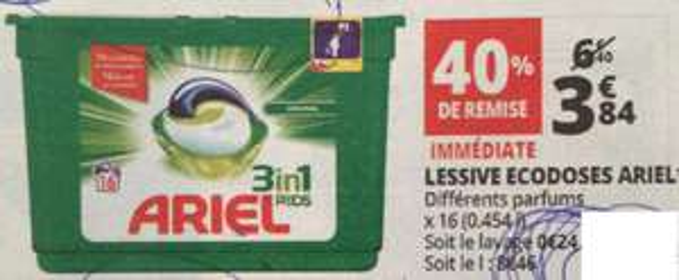 Sélection d'articles en promotion - Ex : Pack de lessive 16 ecodoses Ariel 3en1 Pods (via BDR)