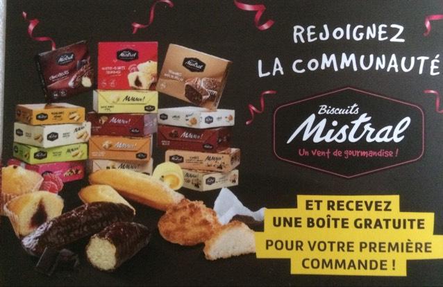 [Nouveaux clients] Une boîte de biscuits Mistral dès 21€ d'achat