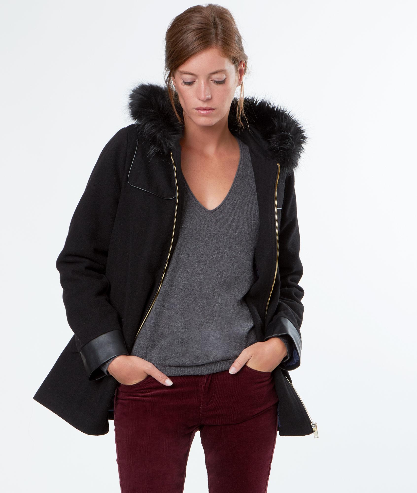 30% de réduction sur une sélection d'articles - Ex : Manteau à capuche en fausse fourrure Thea