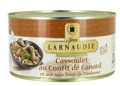 Cassoulet Jean Larnaudie au confit de canard et saucisses