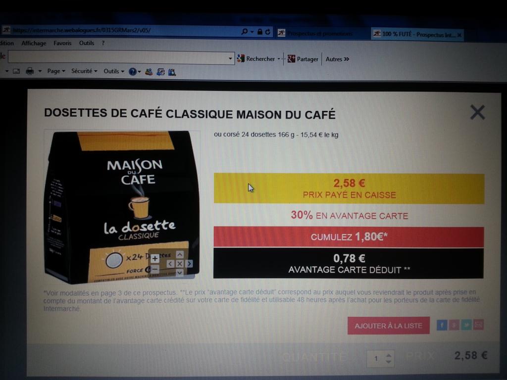 Paquet 24 dosettes Maison du café (avec 0.78€ sur la carte fidélité + Prixing)