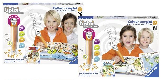 2 coffrets éducatifs Ravensburger Tiptoi  (via 38.90€ ODR + 34€ sur la carte de fidélité)
