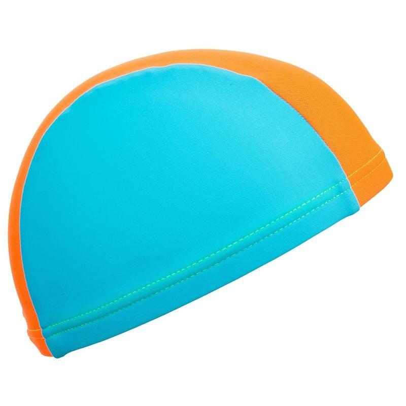 Bonnet de bain maille bébé Nabaiji - Bleu / Orange