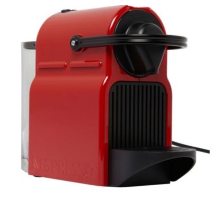 Machine à café Nespresso Inissia rouge  yy1531fd  + 70€ de Capsules (Via ODR sur la carte Nespresso)