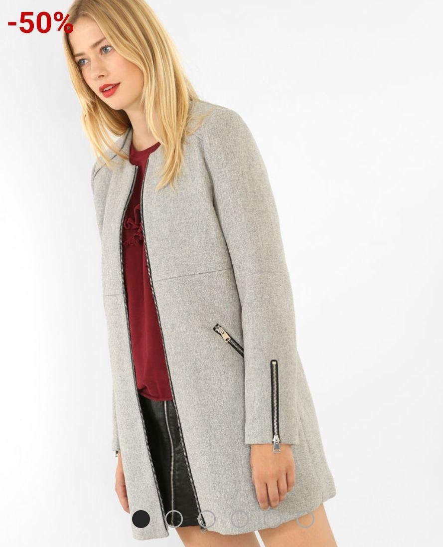 Jusqu'à 50% de réduction sur un sélection d'articles - Ex : Manteau mi-long zippé