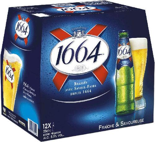 Trois packs de bière 1664 (12x25cl) (BDR 2.60€)