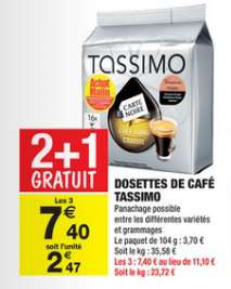 3x Café dosette Tassimo Carte Noire