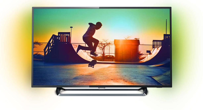 "TV 55"" Philips 55PUS6262 avec Ambilight 2 Côtés - UHD 4K, HDR, Smart TV"
