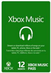 Pass XBOX Music pour 12 mois (écoute de musique en ligne)