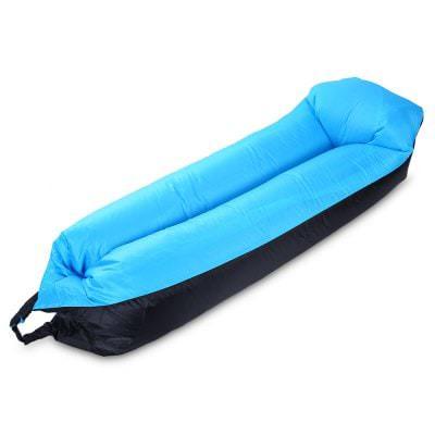 Sofa gonflable - 210 x 50 x 45 cm (Noir/Bleu)
