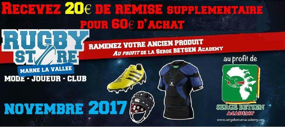 20€ de remise supplémentaire en échange d un ancien équipement de Rugby - Marne-la-Vallée (77)
