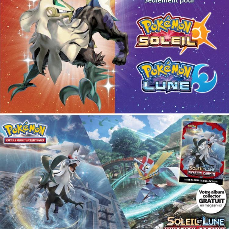Code pour obtenir Silvallié Chromatique + album collector Pokémon Lune & Soleil gratuits en magasin