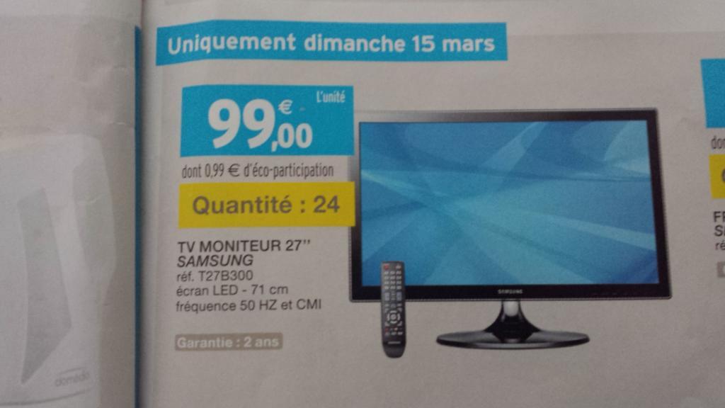 """Téléviseur LED 27"""" Samsung T27B300"""