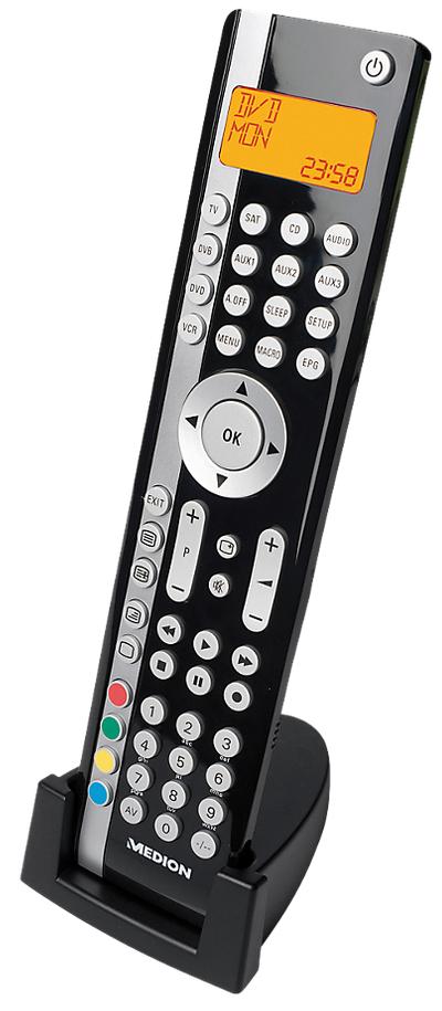 Télécommande universelle 10 en 1 Medion E74023 avec écran LCD