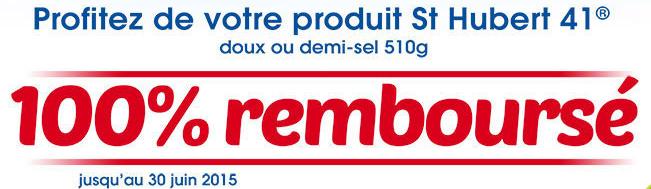 Votre Barquette Saint Hubert 41 - 100 % Remboursée en 1 bon d'achat