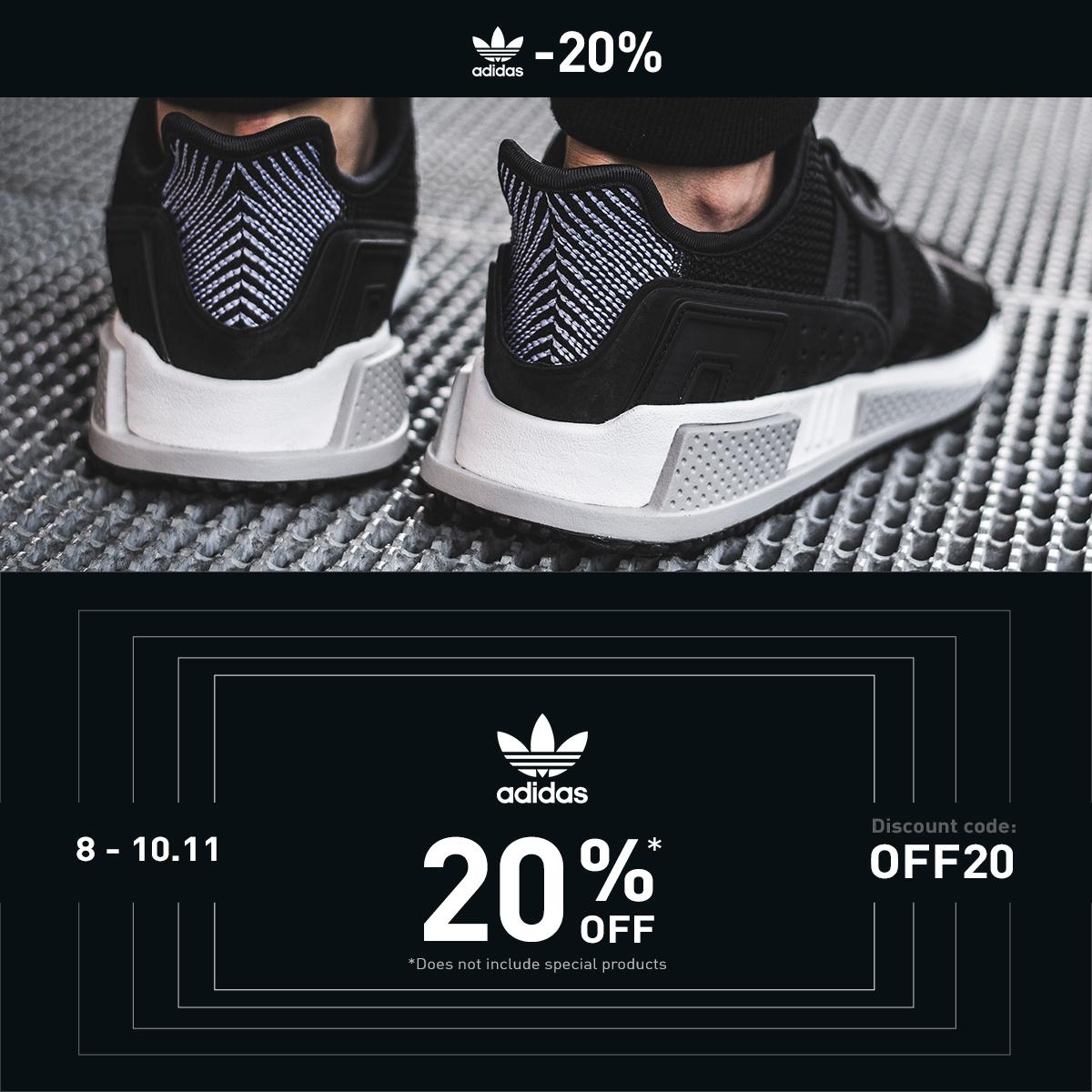 20% de réduction sur les baskets Adidas + Livraison Offerte