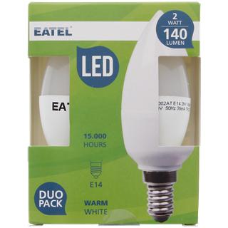 lot de 2 ampoules led e14 2 w 140 lumens. Black Bedroom Furniture Sets. Home Design Ideas