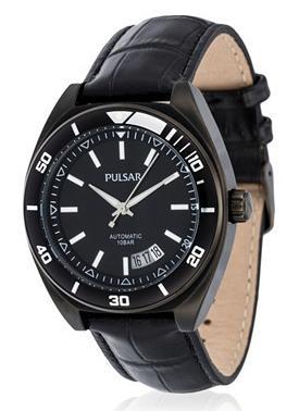 montre automatique Pulsar PU4025X1 avec bracelet en cuir
