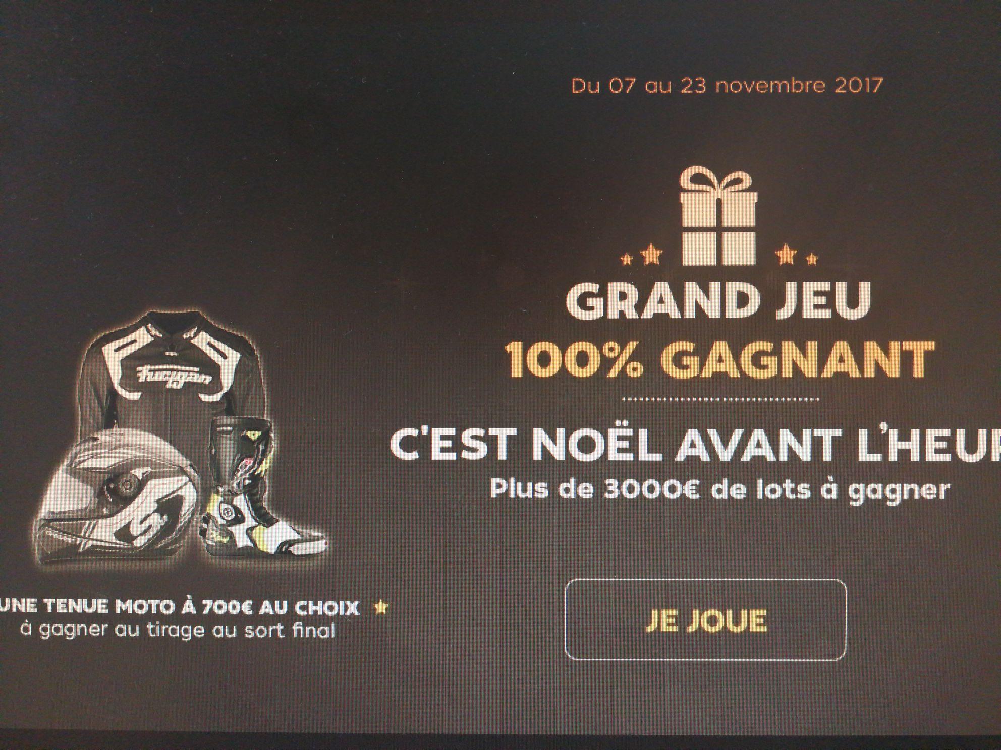 Jeux Noël motoblouz 100% gagnant - Ex : 5€ de réduction dès 30€ d'achat