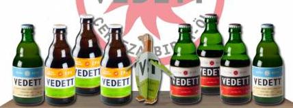 3 x 3 bouteille de bière Vedett (Blonde, IPA, Blanche) + un sous-bock